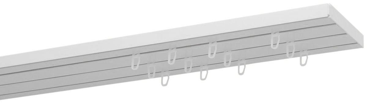 Карниз Уют Оптима, трехрядный, потолочный, составной, цвет: белый, 160 см. 158О09.03ТО.158О.160Карниз Пластмассовый трехрядный потолочный, составной, Уют , цвет: белый, 160 см