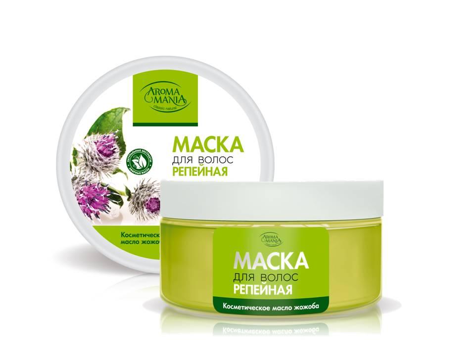 Лекус Аромамания Маска для волос репейная, 250 мл5472Репейная маска укрепляет корни волос, улучшает структуру и полноценно восстанавливает волосы, пробуждая их жизненную силу. Косметическое масло жожоба омолаживает и интенсивно питает витамином Е и прекрасно увлажняет.. Результат - сильные, живые волосы, наполненные здоровым блеском и увлажненные до самых кончиков.