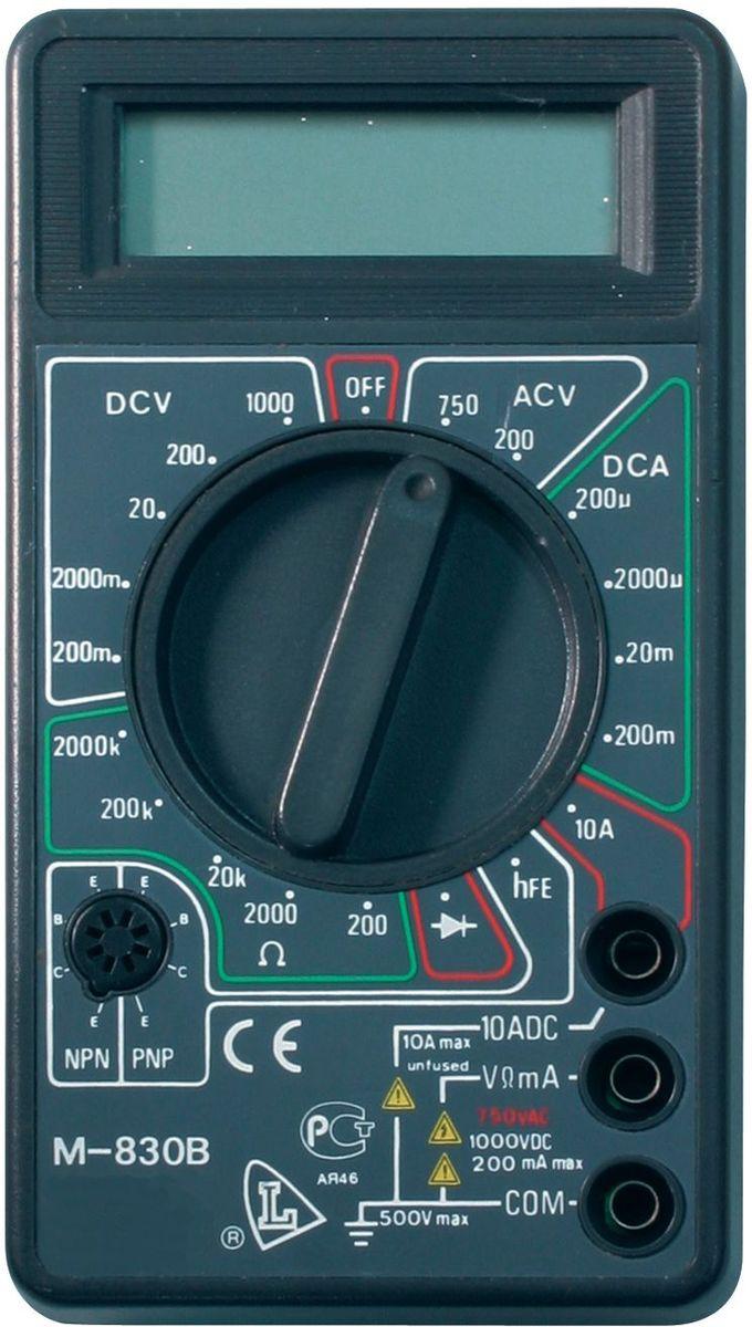 Мультиметр ТЕК DT 830B61/10/218Постоянное напряжение 200м-2000м-20-200-1000+/-0,8% V Постоянный ток 200-2000 мк -20м-200 мк-10 А А Сопротивление 200-2000-20к-200кОм+/-1,0% мОм Рабочая температура 0/+40 °С