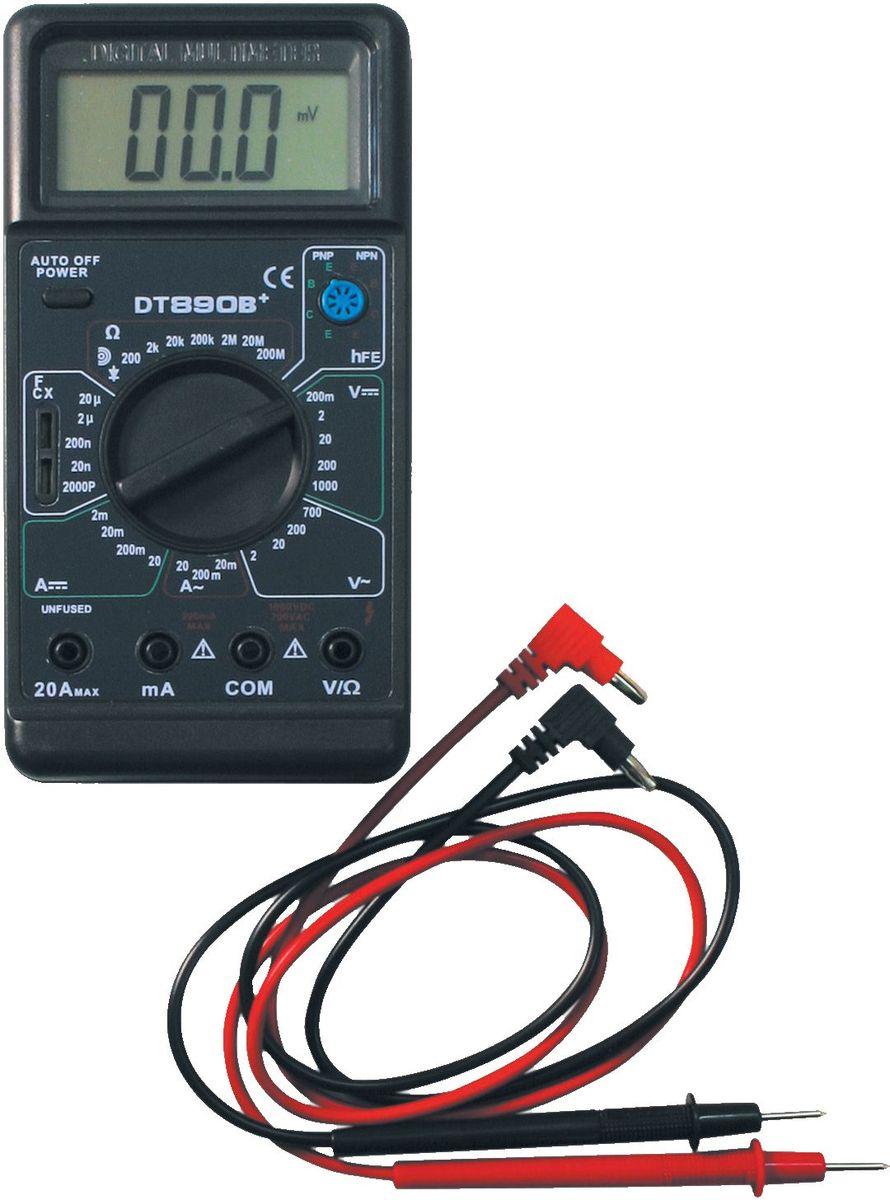 Мультиметр ТЕК DT 890 B+61/10/224Постоянное напряжение 200м-0-200-1000+/- 0,5% V Постоянный ток 2м-20м-200м-10А+/-1,2% А Сопротивление 200-2к-20к-200к-2М-20М-200МОм+/-1,0% мОм Рабочая температура 0/+40 °С