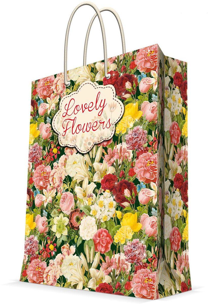Пакет подарочный Magic Home Райский сад, 17,8 х 22,9 х 9,8 см43517Бумажный подарочный пакет для сувенирной продукции размером 17,8*22,9*9,8 см изготовлен из плотной бумаги. Плотность бумаги 140г/м2. Дно укреплено картоном, который позволяет сохранить форму пакета и исключает возможность деформации дна под тяжестью подарка. Пакет выполнен с глянцевой ламинацией, что придает ему прочность, а изображению - фактуру, яркость и насыщенность цветов. Для удобной переноски имеются две ручки из шнурков.