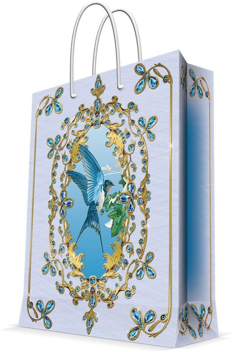 Пакет подарочный Magic Home Ласточка, 26 х 32,4 х 12,7 см44221Подарочный пакет Magic Home, изготовленный из плотной бумаги, станет незаменимым дополнением к выбранному подарку. Дно изделия укреплено картоном, который позволяет сохранить форму пакета и исключает возможность деформации дна под тяжестью подарка. Пакет выполнен с глянцевой ламинацией, что придает ему прочность, а изображению - яркость и насыщенность цветов. Для удобной переноски имеются две ручки в виде шнурков. Подарок, преподнесенный в оригинальной упаковке, всегда будет самым эффектным и запоминающимся. Окружите близких людей вниманием и заботой, вручив презент в нарядном, праздничном оформлении. Плотность бумаги: 140 г/м2.