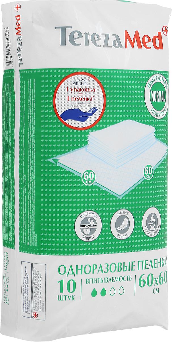 TerezaMed Пеленки одноразовые впитывающие Normal 60 x 60 см 10 шт 7870