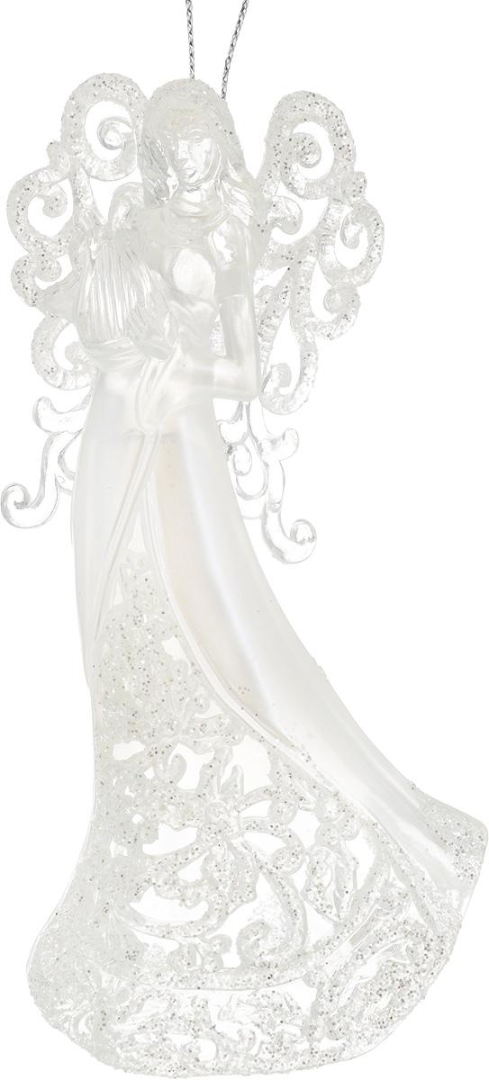 Украшение новогоднее подвесное Erich Krause Посланник небес, высота 13 см31608Украшение новогоднее подвесное Erich Krause Посланник небес прекрасно подойдет для праздничного декора новогодней ели. Изделие выполнено из пластика в виде ангела с арфой и покрыто блестками. Для удобного размещения на елке предусмотрена текстильная петелька. Елочная игрушка - символ Нового года. Она несет в себе волшебство и красоту праздника. Создайте в своем доме атмосферу веселья и радости, украшая новогоднюю елку нарядными игрушками, которые будут из года в год накапливать теплоту воспоминаний.