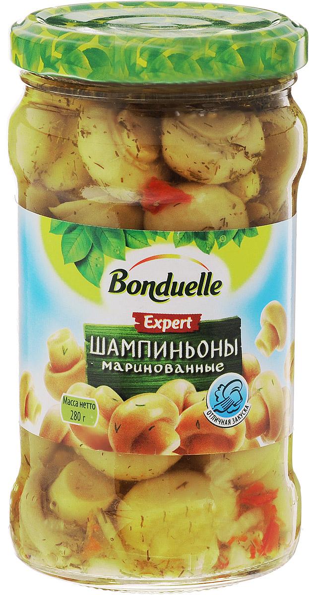 Bonduelle шампиньоны маринованные, 280 г0120710Маринованные шампиньоны Bonduelle - для тех, кто ищет что-то уникальное. Шампиньоны Bonduelle не имеют аналогов на российском рынке: ровные, золотистые, аппетитные - они не только красивы, но и безумно вкусны! Все благодаря особенной рецептуре приятного сладкого маринада с укропом, красным болгарским перцем и специями. Уважаемые клиенты! Обращаем ваше внимание, что полный перечень состава продукта представлен на дополнительном изображении.