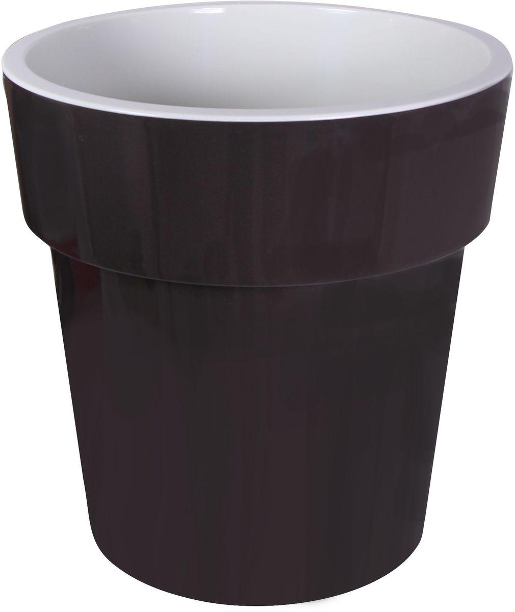 Кашпо Idea Тубус, цвет: коричневый, диаметр 15 смМ 3164