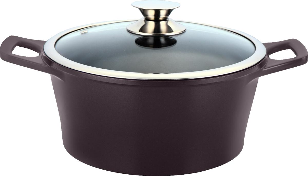 """Кастрюля Marta """"Pro Line"""" с крышкой, с керамическим покрытием, цвет: кофе, 6,2 л MT-2936 кофе"""