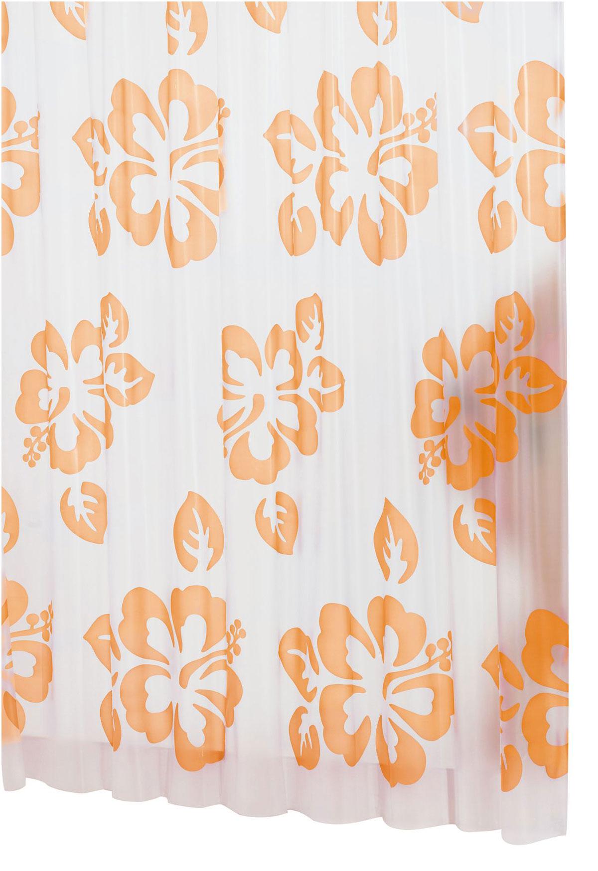 Штора для ванной комнаты Ridder Flowerpower, цвет: оранжевый, 180 х 200 см32354Высококачественная немецкая штора для душа создает прекрасное настроение. Продукты из эколена не имеют запаха и считаются экологически чистыми. Ручная стирка. Не гладить.