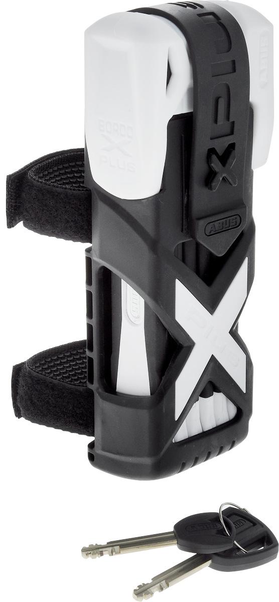"""Велозамок Abus """"Bordo Granit X-Plus 6500/85"""", с ключами, цвет: черный, белый 551628_ABUS"""