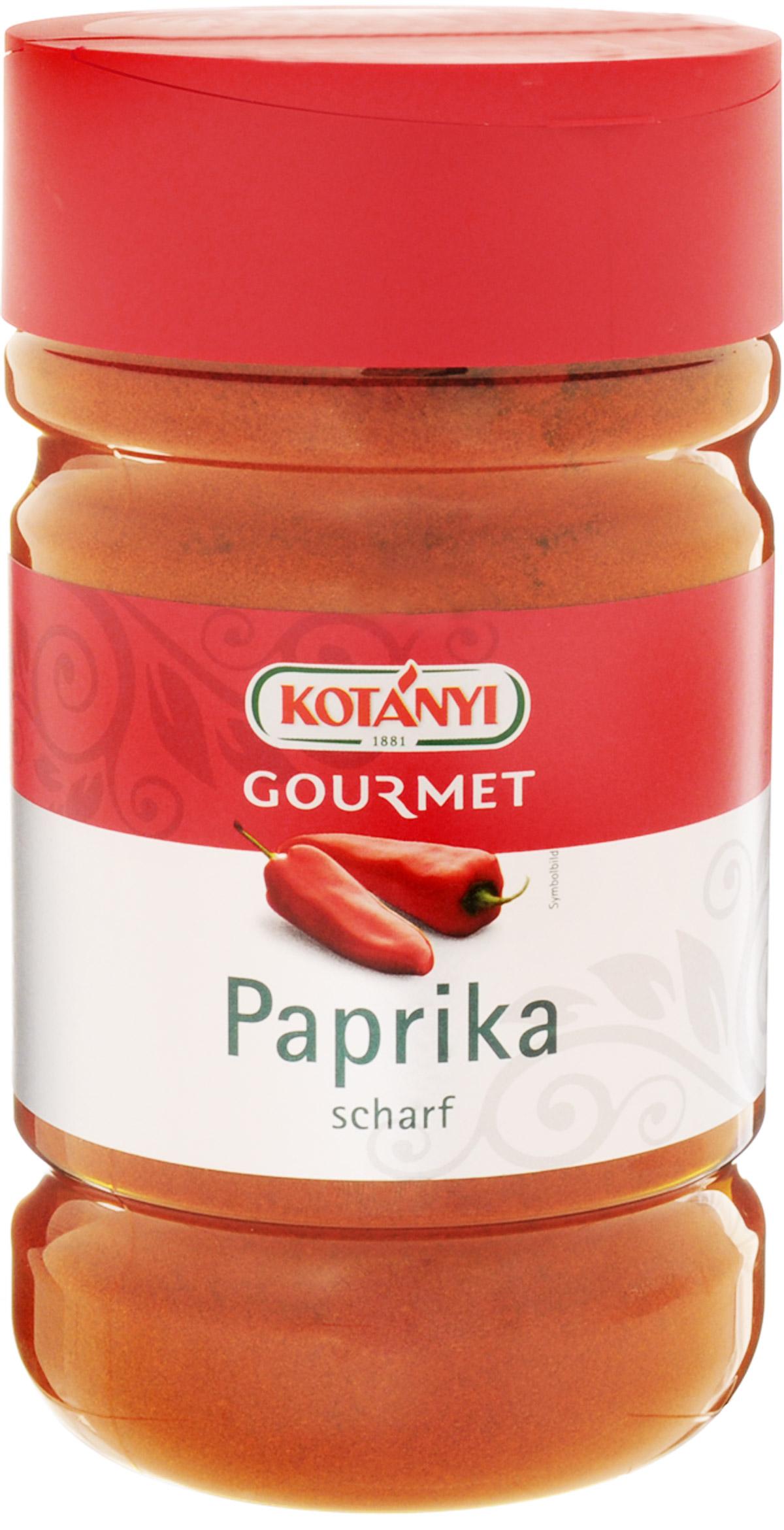 Kotanyi Паприка острая молотая, 630 г0120710Паприка острая молотая Kotanyi - пикантная, острая специя.В пищу употребляются зрелые, высушенные и перемолотые стручки паприки.