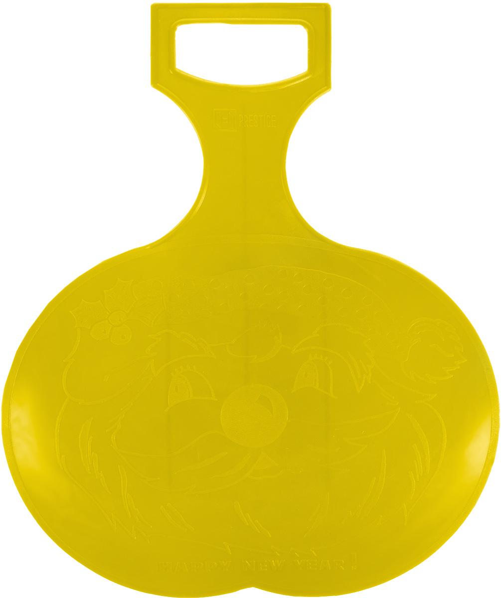 Санки-ледянки Престиж, цвет: желтый, 38 х 32 смUABLSEF20001Любимая детская зимняя забава - это катание с горки. Яркие санки-ледянки Престиж станут незаменимым атрибутом этой веселой детской игры. Санки-ледянки - это специальная пластиковая тарелка, облегчающая скольжение и увеличивающая скорость движения по горке. Ледянка выполнена из прочного гибкого пластика и снабжена ручкой для транспортировки. Конфигурация санок позволяет удобно сидеть и развивать лучшую скорость. Благодаря малому весу ледянку, в отличие от обычных санок, легко нести с собой даже ребенку.