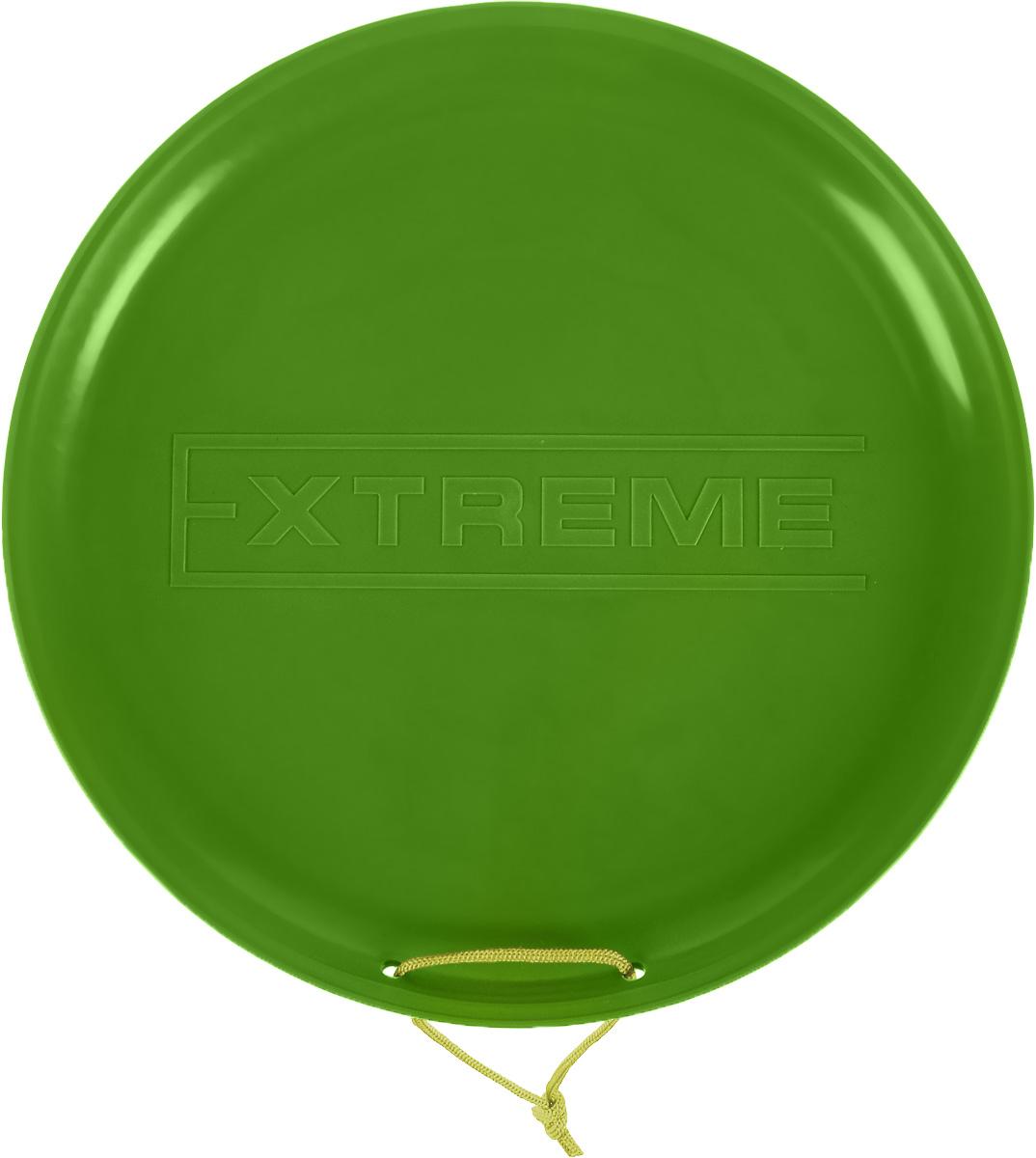 Санки-ледянки Престиж Экстрим, цвет: зеленый, диаметр 40 смUABLSEF20001Любимая детская зимняя забава - это катание с горки. Яркие санки-ледянки Престиж Экстрим станут незаменимым атрибутом этой веселой детской игры. Санки-ледянки - это специальная пластиковая тарелка, облегчающая скольжение и увеличивающая скорость движения по горке. Ледянка выполнена из прочного гибкого пластика и снабжена текстильной ручкой для транспортировки. Конфигурация санок позволяет удобно сидеть и развивать лучшую скорость. Благодаря малому весу ледянку, в отличие от обычных санок, легко нести с собой даже ребенку.