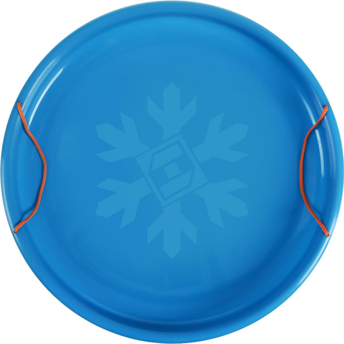Санки-ледянки Престиж Экстрим, цвет: голубой, диаметр 53 смLA010301Любимая детская зимняя забава - это катание с горки. Яркие санки-ледянки Престиж Экстрим станут незаменимым атрибутом этой веселой детской игры. Санки-ледянки - это специальная пластиковая тарелка, облегчающая скольжение и увеличивающая скорость движения по горке. Ледянка выполнена из прочного гибкого пластика и снабжена двумя ручками по бокам. Конфигурация санок позволяет удобно сидеть и развивать лучшую скорость. Благодаря малому весу ледянку, в отличие от обычных санок, легко нести с собой даже ребенку.