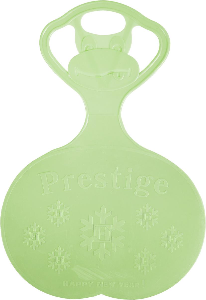 Санки-ледянки Престиж, с символикой, цвет: зеленый, 47 х 32 см336895Любимая детская зимняя забава - это катание с горки. Яркие санки-ледянки Престиж станут незаменимым атрибутом этой веселой детской игры. Изделие украшено рельефной символикой. Санки-ледянки - это специальная пластиковая тарелка, облегчающая скольжение и увеличивающая скорость движения по горке. Ледянка выполнена из прочного гибкого пластика и снабжена ручкой для переноски. Конфигурация санок позволяет удобно сидеть и развивать лучшую скорость. Благодаря малому весу ледянку, в отличие от обычных санок, легко нести с собой даже ребенку.