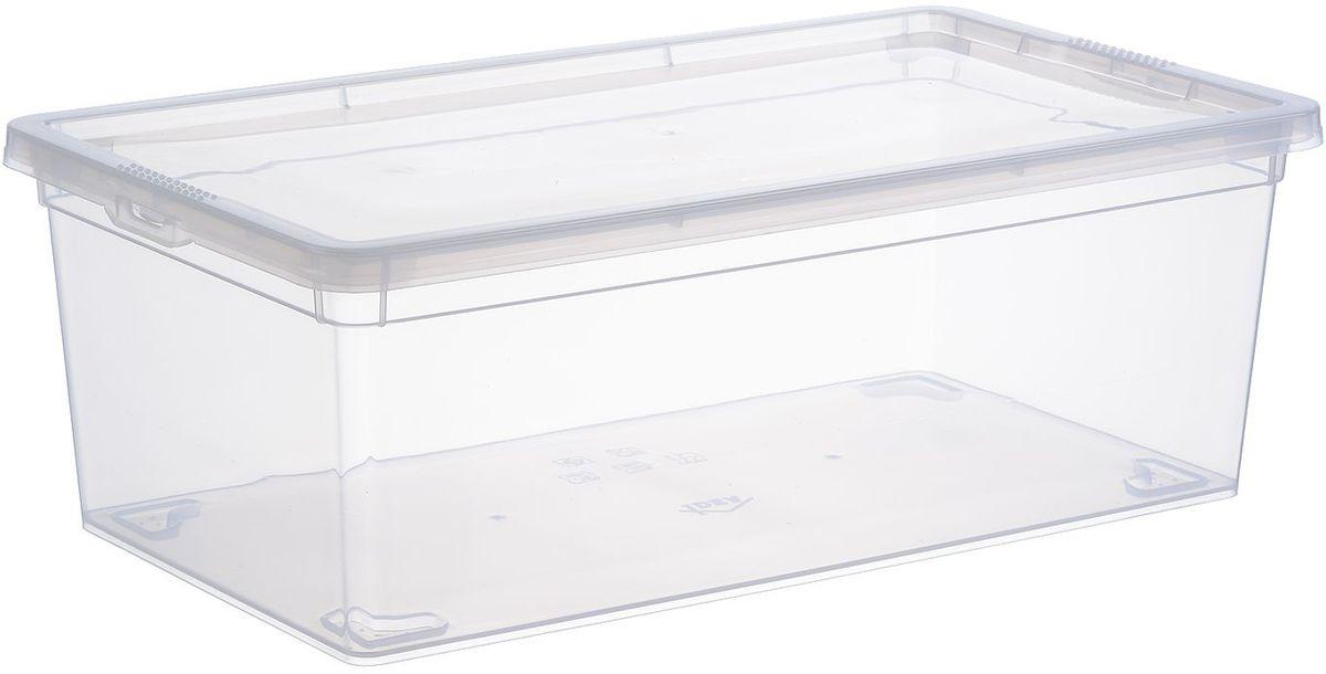 Ящик Idea, цвет: прозрачный, 34 х 19 х 12 см, 5,5 л. М 2351М 2351
