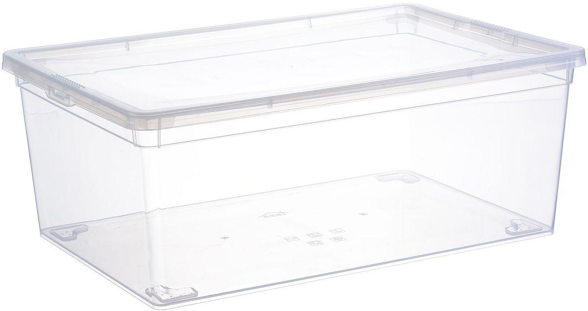 Ящик для хранения Idea, цвет: прозрачный, 10 л. М 2352S03301004Ящик Idea, выполненный из прочного прозрачного пластика, предназначен для хранения пищевых продуктов. Вместительный ящик закрывается при помощи крышки. Размер ящика: 25 х 37 х 14 см.Объём: 10 л.