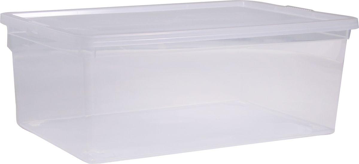 Ящик Idea, цвет: прозрачный, 25 лМ 2353Ящик Idea выполнен из прочного пластика и предназначен для хранения различных предметов. Вместительный ящик плотно закрывается при помощи крышки. Вместительный ящик позволит сохранить нужные вещи в чистоте и порядке, а герметичная крышка предотвратит случайное открывание, защитит содержимое от пыли и грязи. Размер ящика (с учетом крышки): 53 х 38 см х 17 см. Объем ящика: 25 л.