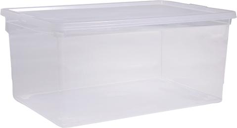 Ящик Idea, цвет: прозрачный, 37 х 53 х 46 см, 50 л. М 2354М 2354