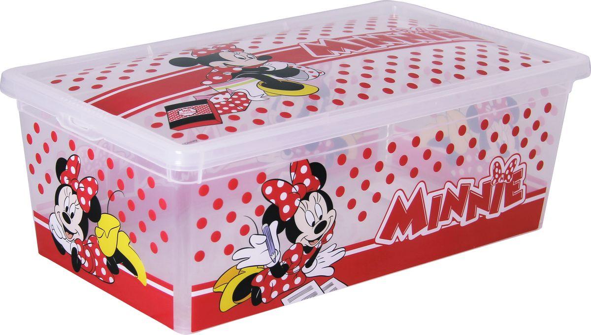 Ящик Disney Деко, цвет: белый, 34 х 19 х 12 см, 5,5 л. М 2356-ДМ 2356-Д