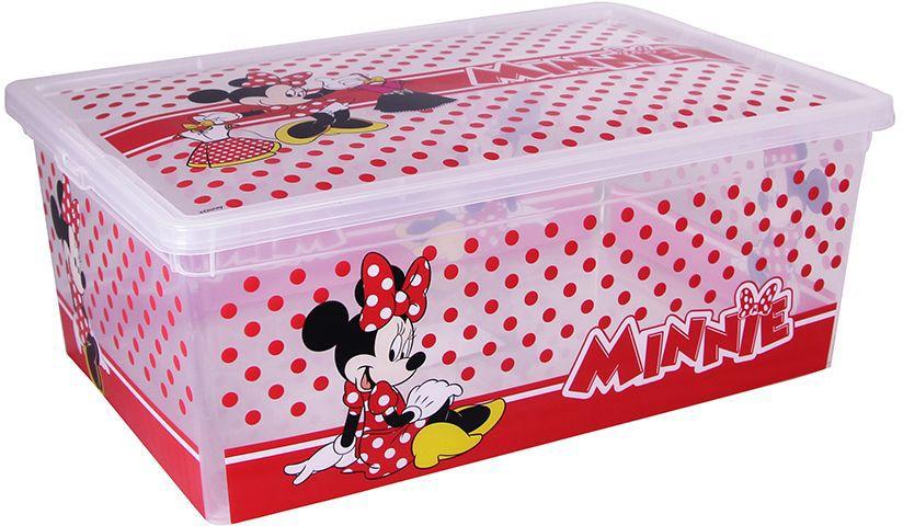 Ящик Disney Деко, цвет: белый, 25 х 37 х 40 см, 10 л. М 2357-ДМ 2357-Д