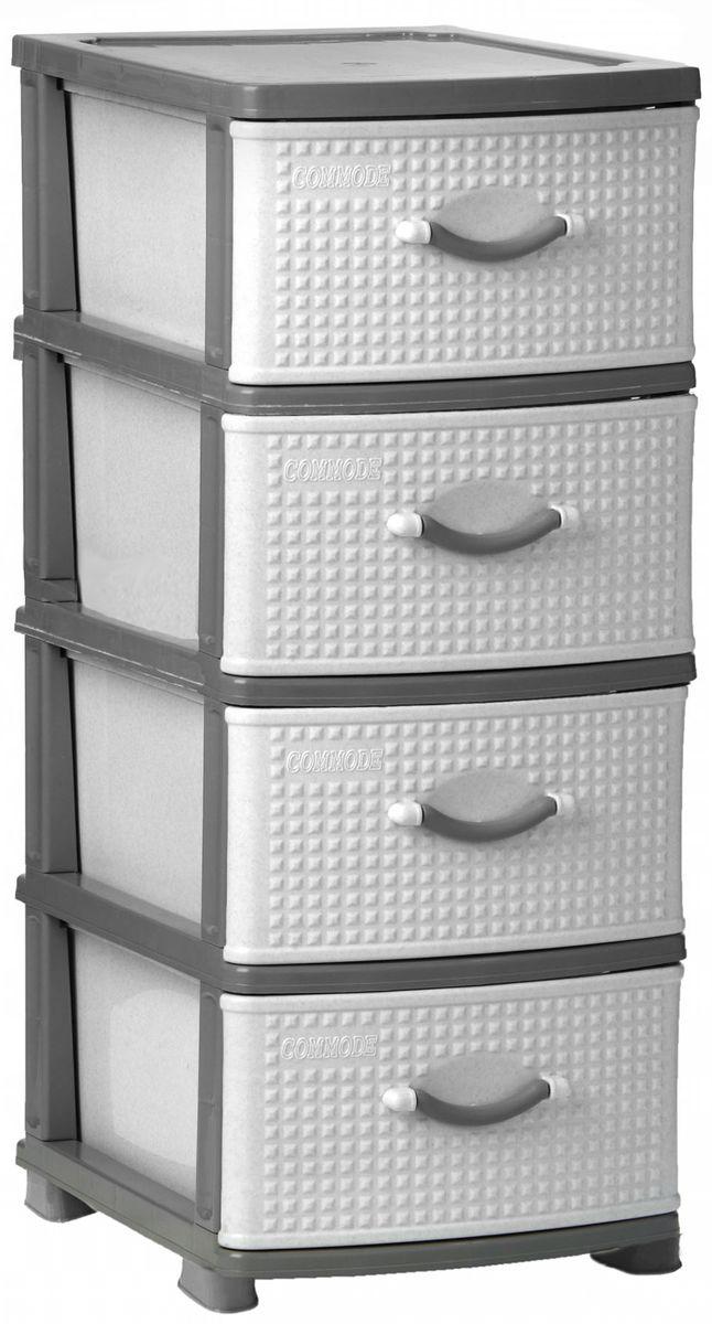 Комод Idea Классик, цвет: серый мрамор, 37,5 х 48 х 47,5 см, 4 секцииМ 2784Комод Idea Классик изготовлен из высококачественного пластика. Ящики стилизованы под дерево. Комод предназначен для хранения различных вещей и состоит из 4 вместительных выдвижных секций. Такой необычный комод надежно защитит вещи от загрязнений, пыли и моли, а также позволит вам хранить их компактно и с удобством. Размер комода: 37,5 х 48 х 47,5 см.