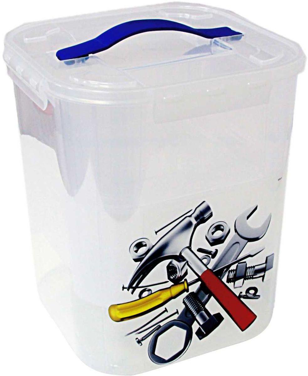 Контейнер для хранения Idea Деко. Инструменты, 23 х 23 х 50,5 см, с вкладышами, 10 л. М 2831М 2831