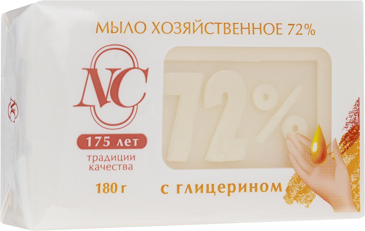 """Невская косметика Мыло хозяйственное """"72%"""", с глицерином, 180 г 11145"""