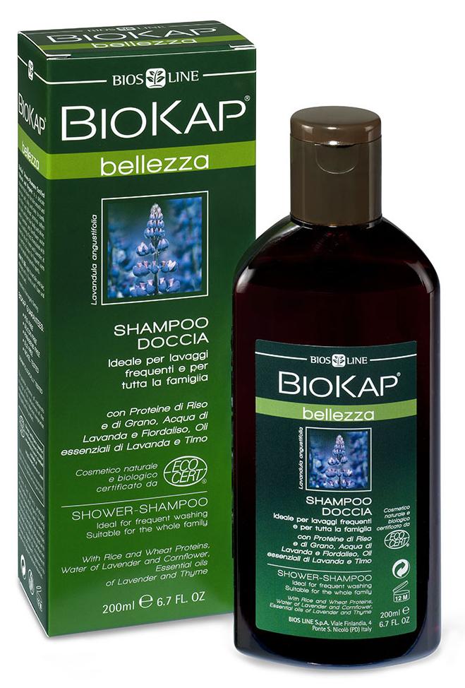 BioKap Шампунь-гель для душа Био, 200 млBL 26Идеален для ежедневного использования. Основан полностью на натуральных био-компонентах. Обогащен комплексом витаминов и минералов, мягко очищает и дезодорирует, оставляя кожу гладкой, нежной и бархатистой. Не нарушая естественный гидролипидный баланс, придает волосам мягкость и сияние. Рекомендован для хорошего самочувствия и длительного ощущения свежести, придает энергию и жизненную силу. Имеет ЭКО Сертификат