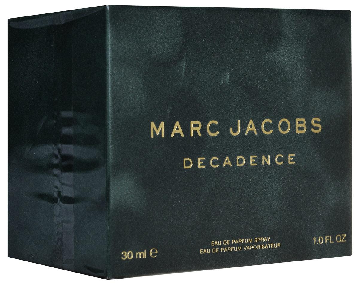 Marc Jacobs Decadence Парфюмерная вода женская 30 мл58995004000Marc Jacobs Decadence - Это утонченный чувственный древесный аромат. Он очаровывает с первых страстных нот сочной итальянской сливы, золотого душистого шафрана и утонченного ириса. Сердце аромата пронизано чарующим благоуханием болгарской розы, пышным звучанием фиалкового корня и нотами великолепного жасмина самбак. Сексуальные аккорды жидкой амбры, ветивера и пьянящего сухого папирусного дерева сплетаются в классический самодостаточный и изысканный шлейф.decadence поднимает легкие и очаровательные композиции от marc jacobs на новый уровень роскоши и элегантности. Верхняя нота: Слива, Ирис и Шафран. Средняя нота: Болгарская роза, Жасмин самбак и Ирис. Шлейф: Амбра, Ветивер и Папирус. Шафран, ирис и итальянская слива, в сочетании с древесными аккордами создают аромат Marc Jacobs Decadence. Дневной и вечерний аромат.