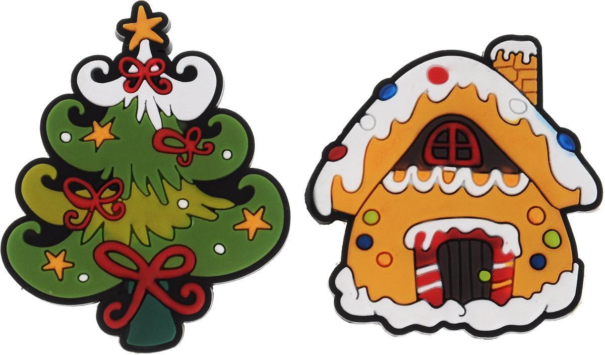 Магниты B&H Домик и елка, 2 штBH1077_коричневый, зеленыйМагниты B&H Домик и елка прекрасно дополнят интерьер помещения в преддверии Нового года. Магниты выполнены из резины в виде красивых фигурок домика и новогодней елочки. Создайте в своем доме атмосферу веселья и радости, украшая его к Новому году. Откройте для себя удивительный мир сказок и грез. Почувствуйте волшебные минуты ожидания праздника, создайте новогоднее настроение вашим родным и близким. Средний размер магнитов: 5 х 5 см.