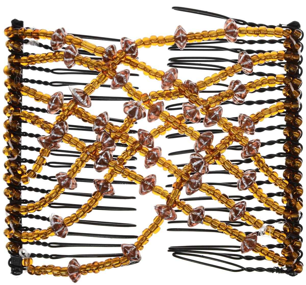 EZ-Combs Заколка Изи-Комбс, одинарная, цвет: коричневый. ЗИО_цветок с серебромЗИО_коричневый, цветок с серебромУдобная и практичная EZ-Combs подходит для любого типа волос: тонких, жестких, вьющихся или прямых, и не наносит им никакого вреда. Заколка не мешает движениям головы и не создает дискомфорта, когда вы отдыхаете или управляете автомобилем. Каждый гребень имеет по 20 зубьев для надежной фиксации заколки на волосах! И даже во время бега и интенсивных тренировок в спортзале EZ-Combs не падает; она прочно фиксирует прическу, сохраняя укладку в первозданном виде. Небольшая и легкая заколка для волос EZ-Combs поместится в любой дамской сумочке, позволяя быстро и без особых усилий создавать неповторимые прически там, где вам это удобно. Гребень прекрасно сочетается с любой одеждой: будь это классический или спортивный стиль, завершая гармоничный облик современной леди. И неважно, какой образ жизни вы ведете, если у вас есть EZ-Combs, вы всегда будете выглядеть потрясающе.