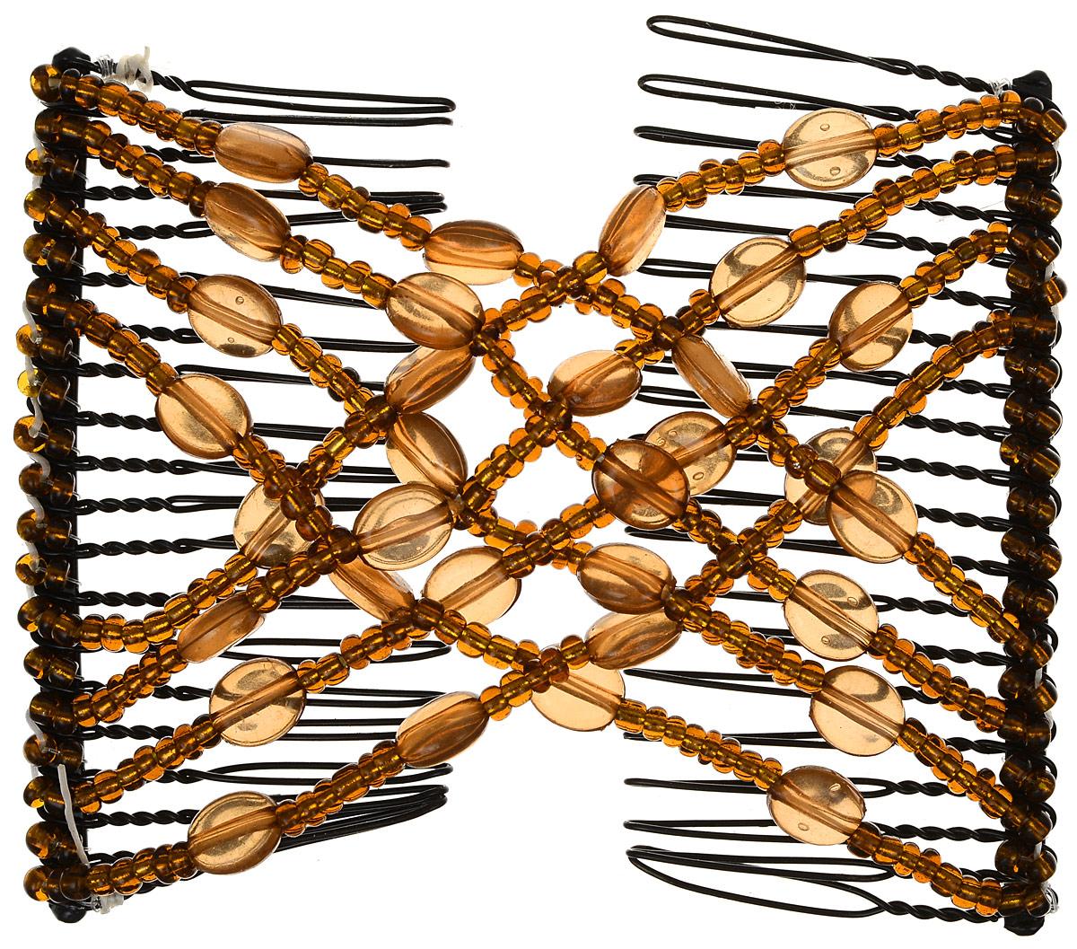 EZ-Combs Заколка Изи-Комбс, одинарная, цвет: коричневый. ЗИО_овалыЗИО_коричневый, овалыУдобная и практичная EZ-Combs подходит для любого типа волос: тонких, жестких, вьющихся или прямых, и не наносит им никакого вреда. Заколка не мешает движениям головы и не создает дискомфорта, когда вы отдыхаете или управляете автомобилем. Каждый гребень имеет по 20 зубьев для надежной фиксации заколки на волосах! И даже во время бега и интенсивных тренировок в спортзале EZ-Combs не падает; она прочно фиксирует прическу, сохраняя укладку в первозданном виде. Небольшая и легкая заколка для волос EZ-Combs поместится в любой дамской сумочке, позволяя быстро и без особых усилий создавать неповторимые прически там, где вам это удобно. Гребень прекрасно сочетается с любой одеждой: будь это классический или спортивный стиль, завершая гармоничный облик современной леди. И неважно, какой образ жизни вы ведете, если у вас есть EZ-Combs, вы всегда будете выглядеть потрясающе.