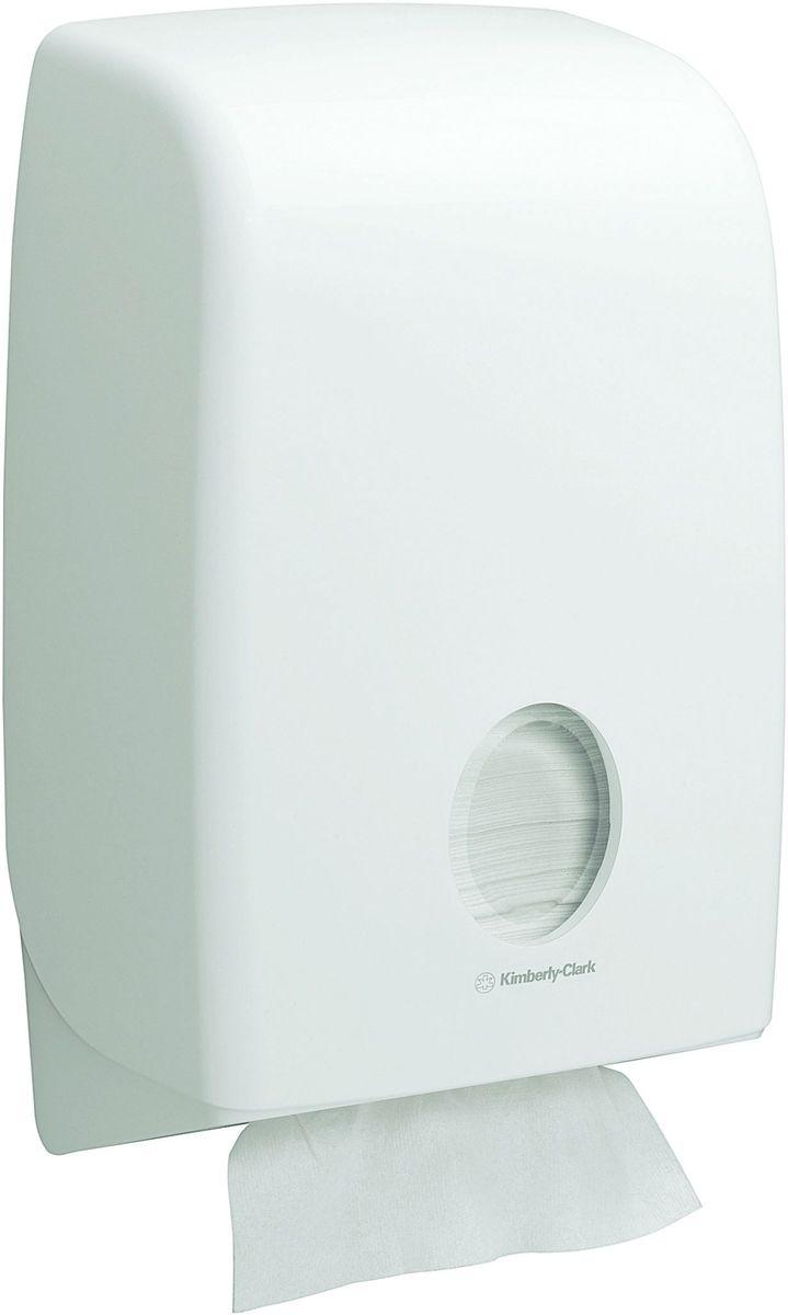 Диспенсер Aquarius Interleaved, для сложенных бумажных полотенец, цвет: белый. 69456945Ассортимент диспенсеров для сложенных бумажных полотенец для рук с выдачей по одному листу из скоординированной линейки диспенсеров для туалетных комнат. Диспенсеры мотивируют сотрудников соблюдать гигиенические нормы, повышают уровень комфорта, демонстрируют заботу о персонале и помогают сократить расходы. Идеальное решение, обеспечивающее подачу полотенец со сложением Inter-fold без касания диспенсера, снижение риска перекрестного загрязнения и предотвращение распространения бактерий. Наше уникальное запатентованное устройство защиты от переполнения облегчает процесс заправки, помогает предотвратить заминание продукта и снижает объем отходов. Формат поставки: диспенсер современного дизайна, обтекаемой формы, обеспечивающий быструю заправку; белое глянцевое, легко очищаемое покрытие; отсутствие мест скопления пыли и грязи; смотровое окно для контроля за расходными материалами; возможность выбора цветовых вставок в соответствие с интерьером конкретных туалетных комнат. Совместим с...