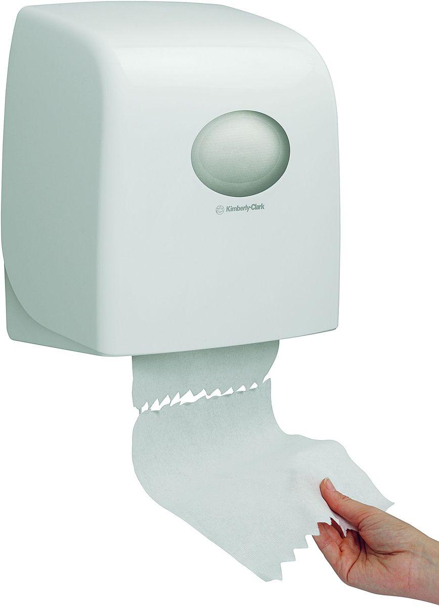 Диспенсер для бумажных полотенец Aquarius, рулон, цвет: белый. 69536953Относится к категории диспенсеров для рулонных бумажных полотенец, представленных в рамках серии диспенсеров AQUARIUS®, которые были разработаны для повышения уровня гигиены и эффективности использования бумажных полотенец в туалетных комнатах, с целью создания лучших условий для исключительного опыта пользователя. Идеальное решение, применимое в помещениях с высокой проходимостью, для гигиеничной подачи по одному листу бумажных рулонных полотенец, без прикосновения к диспенсеру. Подходит для помещений с ограниченным пространством; компактная и легко заправляемая система, гигиеничное и экономичное решение, прост в обслуживании. Белый диспенсер, закрывающийся на ключ или при помощи блокировочной кнопки, применим для загрузки рулонных полотенец длиной 165м. Это обеспечивает подачу до 600 листов (при отрыве листа 25см). Гигиеничный обтекаемый дизайн, с легко очищаемым покрытием, без каких-либо углублений, где могла бы скапливаться пыль или грязь. Совместим с полотенцами: 6657 , 6697.