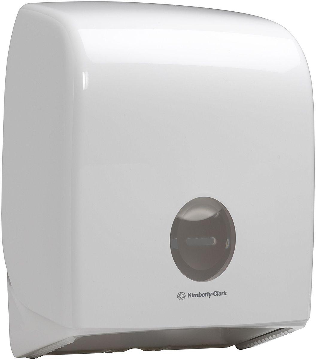 Диспенсер для туалетной бумаги Aquarius Jumbo, большой рулон, цвет: белый. 69586958Ассортимент диспенсеров для рулонной туалетной бумаги, которые выполнены в одном стиле с диспенсерами для мыла и для полотенец для рук. Диспенсеры мотивируют сотрудников соблюдать гигиенические нормы, повышают уровень комфорта, демонстрируют заботу о персонале и помогают сократить расходы. Идеальное решение, обеспечивающее подачу рулонной туалетной бумаги из элегантного диспенсера в туалетных комнатах с высокой проходимостью, легкая загрузка, практичное, гигиеничное и экономичное решение. Диспенсер имеет съемную ось, и межет быть использован с рулонами с диаметром втулки 44/60/76 мм. Максимальный диаметр рулона – 200 мм. Формат поставки: диспенсер современного дизайна, обтекаемой формы, обеспечивающий быструю заправку; белое глянцевое, легко очищаемое покрытие; отсутствие мест скопления пыли и грязи; смотровое окно для контроля за расходными материалами; возможность выбора цветовых вставок в соответствие с интерьером конкретных туалетных комнат. Замена диспенсера 6988. Совместим с...