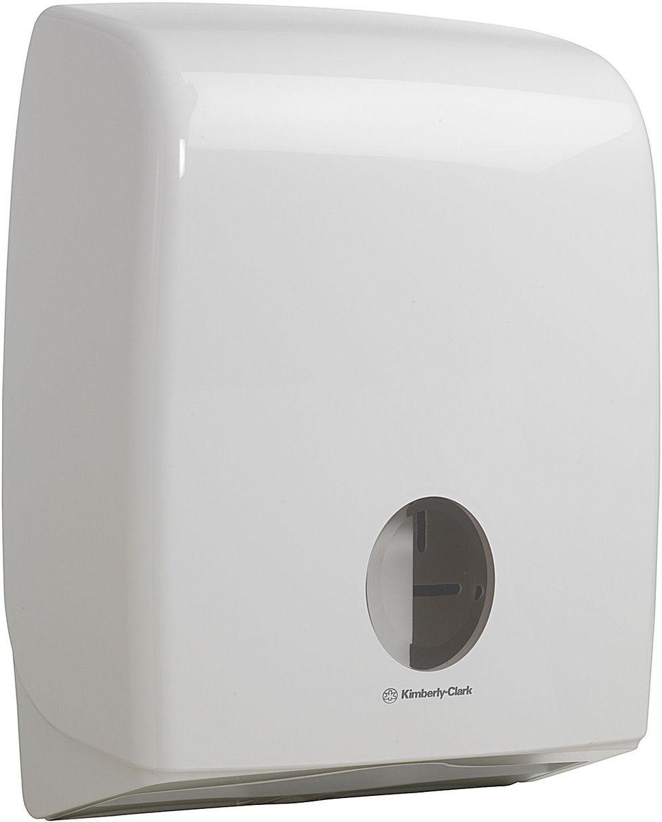 Диспенсер Aquarius, для сложенной туалетной бумаги, цвет: белый. 69906990Ассортимент диспенсеров большой ёмкости для сложенной туалетной бумаги из скоординированной линейки диспенсеров для туалетных комнат. Диспенсеры мотивируют сотрудников соблюдать гигиенические нормы, повышают уровень комфорта, демонстрируют заботу о персонале и помогают сократить расходы. Идеальное решение, обеспечивающее подачу по одному листу без касания диспенсера, снижение риска перекрестного загрязнения и предотвращение распространения бактерий. Наше уникальное запатентованное устройство защиты от переполнения облегчает процесс заправки, помогает предотвратить заминание продукта и снижает объем отходов. Вмещает более 5 пачек сложенной бумаги и подходит для туалетных комнат с высокой посещаемостью. Формат поставки: диспенсер современного дизайна, обтекаемой формы, обеспечивающий быструю заправку; белое глянцевое, легко очищаемое покрытие; отсутствие мест скопления пыли и грязи; смотровое окно для контроля за расходными материалами; возможность выбора цветовых вставок в соответствие...