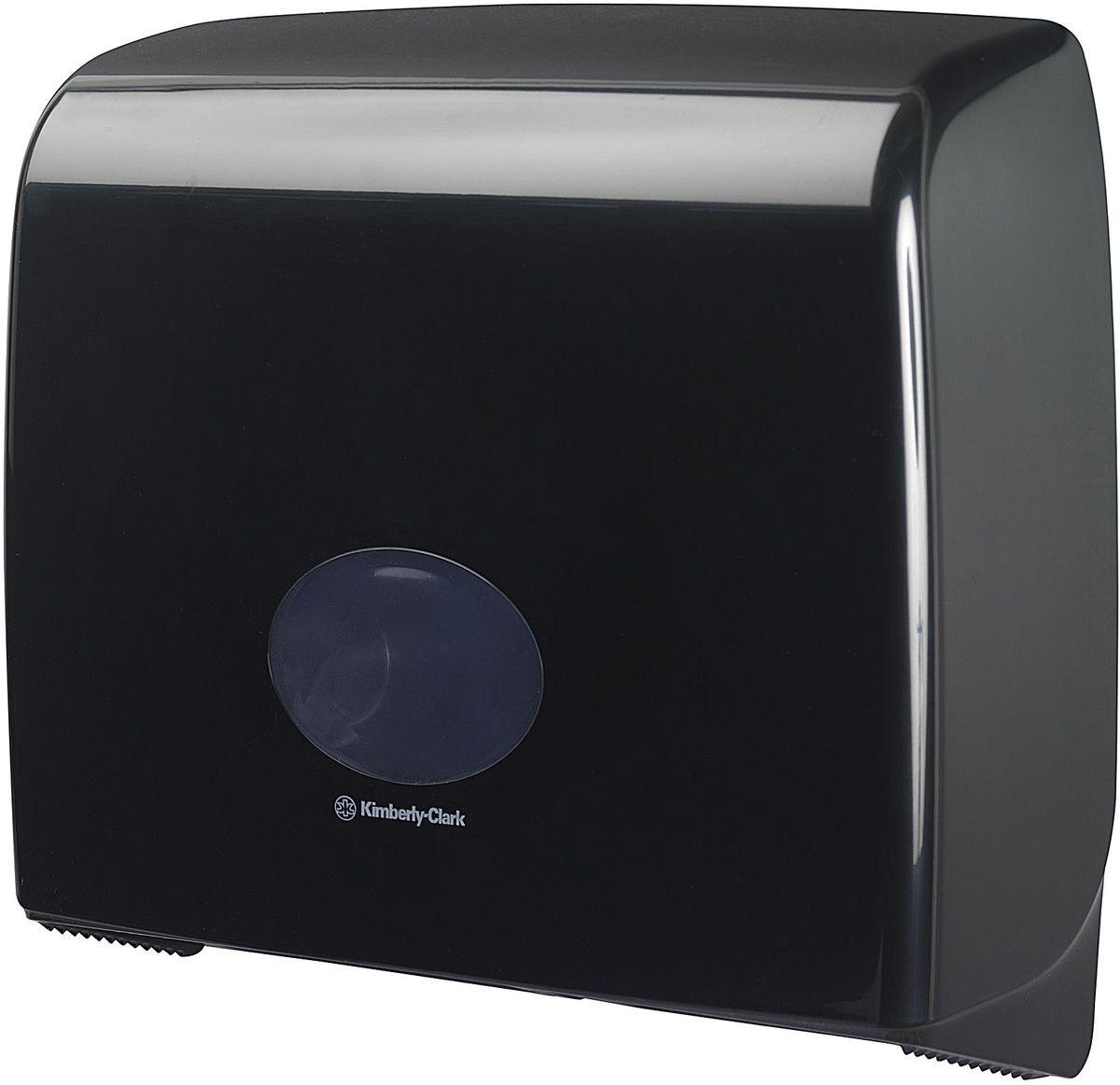 Диспенсер для туалетной бумаги Aquarius Jumbo, большой рулон, цвет: черный. 718468/5/3Ассортимент диспенсеров для рулонной туалетной бумаги, которые выполнены в одном стиле с диспенсерами для мыла и для полотенец для рук. Диспенсеры мотивируют сотрудников соблюдать гигиенические нормы, повышают уровень комфорта, демонстрируют заботу о персонале и помогают сократить расходы. Идеальное решение, обеспечивающее подачу рулонной туалетной бумаги из элегантного диспенсера в туалетных комнатах с высокой проходимостью, легкая загрузка, практичное, гигиеничное и экономичное решение.Формат поставки: диспенсер современного дизайна, обтекаемой формы, обеспечивающий быструю заправку; черное глянцевое, легко очищаемое покрытие; отсутствие мест скопления пыли и грязи; смотровое окно для контроля за расходными материалами; возможность выбора цветовых вставок в соответствие с интерьером конкретных туалетных комнат. Замена диспенсера 6987. Совместим с туалетной бумагой: 8440, 8442, 8446, 8449, 8474, 8484, 8517, 8519, 8559.