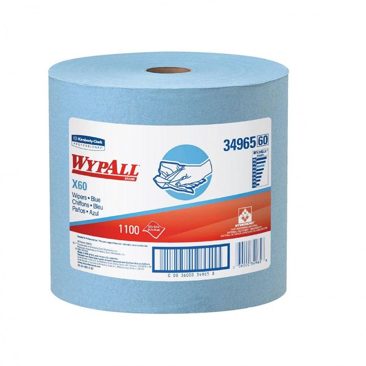 Полотенца бумажные Wypall Х60, 1100 шт34965Бумажные полотенца Wypall Х60 обладают отличной впитывающей способностью, долговечностью и прочностью, как в сухом, так и во влажном состоянии. Подходят для работы по очистке от клея, масла, мусора, стекол, а также для прецизионной очистки сложных механизмов и деталей.