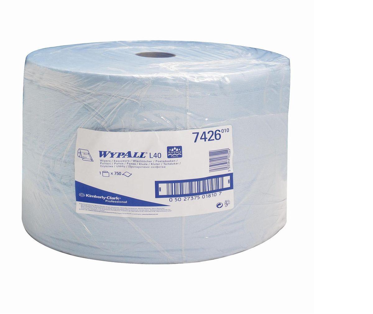 Салфетка протирочная Wypall L40, трехслойные, 750 листов. 74267426Протирочные салфетки с ограниченным сроком службы, произведенные при помощи технологии AIRFLEX®, отличаются прочностью и отличной впитывающей способностью, что позволяет быстро и экономно выполнять очистку, расходуя меньше салфеток и сокращая затраты. Идеальное решение для операций ежедневной очистки на производственных участках, очистки технологических линий, быстрого устранения крупных разливов масла, смазки, протирки рук и лица пациентов в медицинских учреждениях; помогает предотвратить распространение бактерий. Формат поставки: большой рулон с перфорацией для зон с высокой проходимостью. Может использоваться с переносными или стационарными диспенсерами для контроля расхода продукта и уменьшения объема отходов.