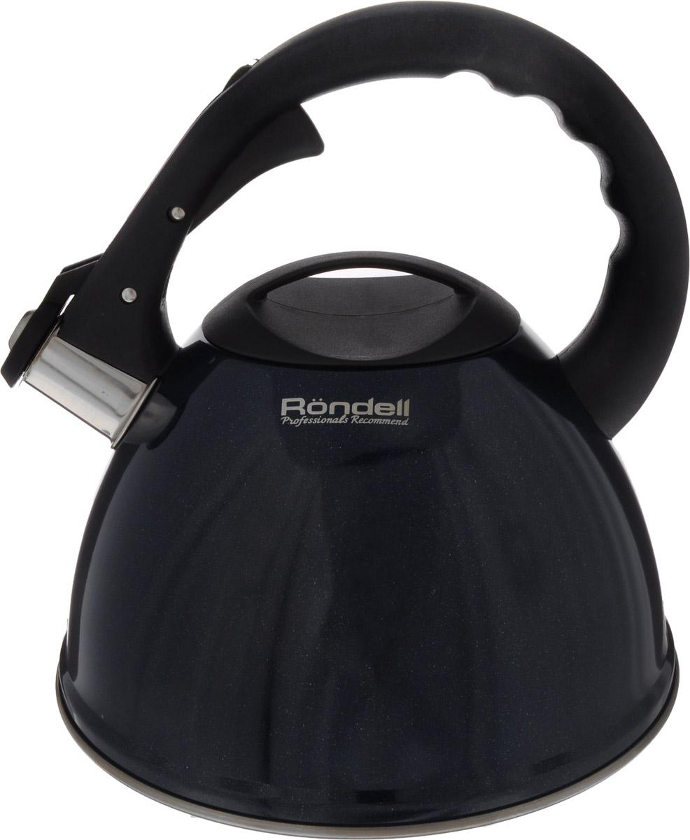 Чайник Rondell Royal Blue, со свистком, 3,2 лRDS-418Чайник Rondell Royal Blue изготовлен из высококачественной пищевой нержавеющей стали 18/10, благодаря чему не подвержен коррозии, устойчив к органическим кислотам, долговечен и прост в уходе. Глянцевое покрытие легко в уходе и обеспечивает безупречный внешний вид. Наличие свистка позволяет следить за кипением чайника. Эргономичная ручка из бакелита позволяет открывать свисток и наливать воду одной рукой. Стильный дизайн изделия украсит любую кухню. Чайник подходит для использования на всех видах плит, включая индукционные. Нельзя мыть в посудомоечной машине. Диаметр чайника по верхнему краю: 10 см. Высота чайника (без учета крышки и ручки): 13 см. Высота чайника (с учетом ручки): 23,5 см.