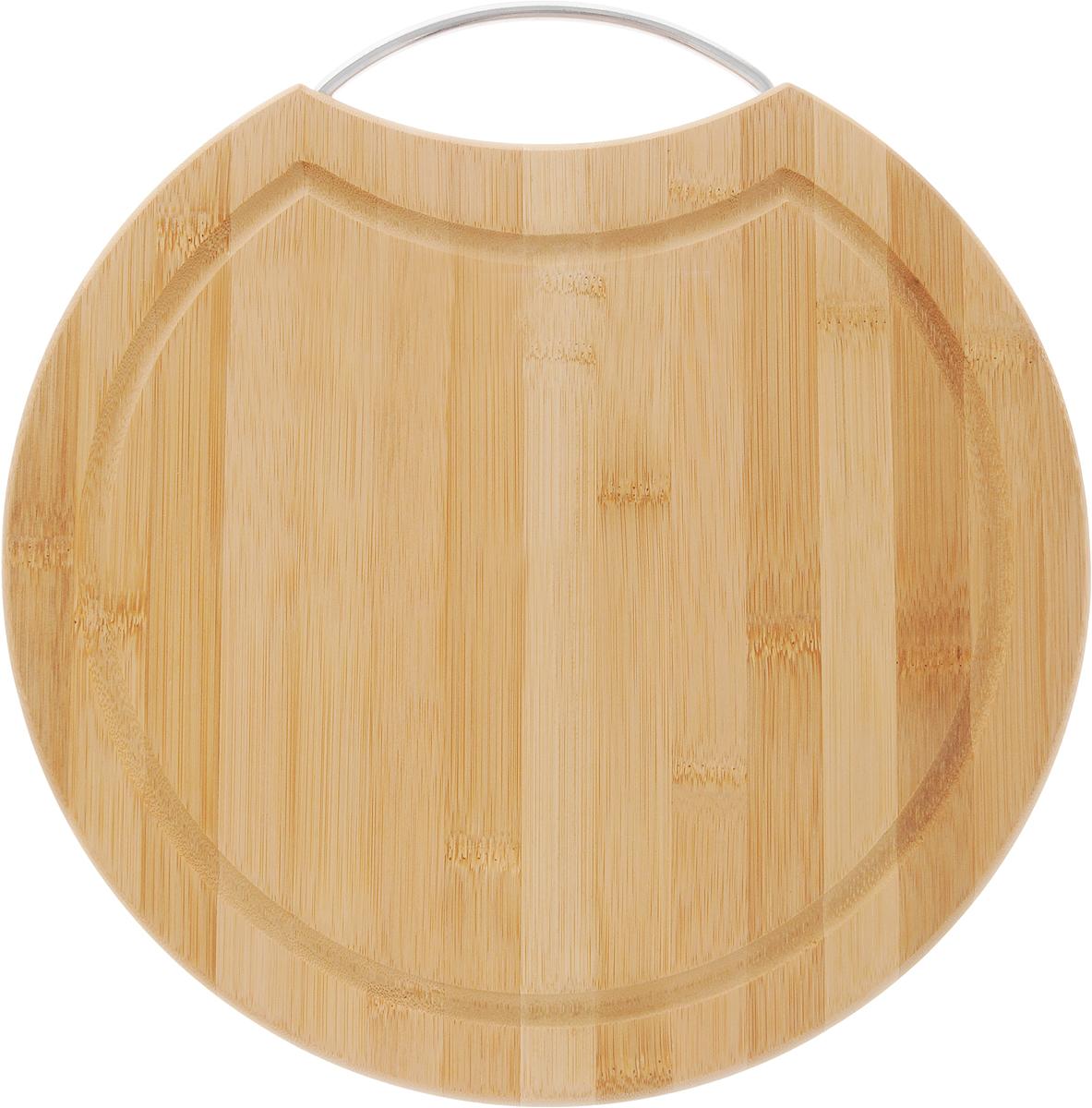 Доска разделочная LarangE От шефа, 31 х 31 х 1,5 см624-174Доска разделочная LarangE От Шефа изготовлена из высококачественного бамбука. Доска предназначена для нарезки продуктов, может служить как подставка для закусок (например, суши). Доска оснащена желобом для стока жидкости и металлической ручкой, за которое доску можно подвесить на крючок. Такая доска станет отличным приобретением для вашей кухни.