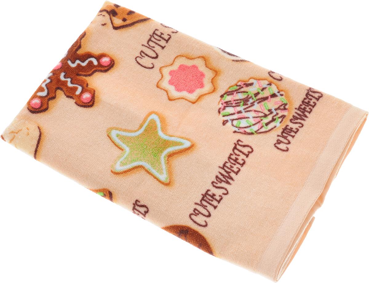 Полотенце кухонное Soavita Печенье, цвет: бежевый, 40 х 60 см87423Кухонное полотенце Soavita Печенье выполнено из хлопка. Полотенца используются для протирки различных поверхностей, также широко применяются в быту. Перед использованием постирать при температуре не выше 40 градусов.