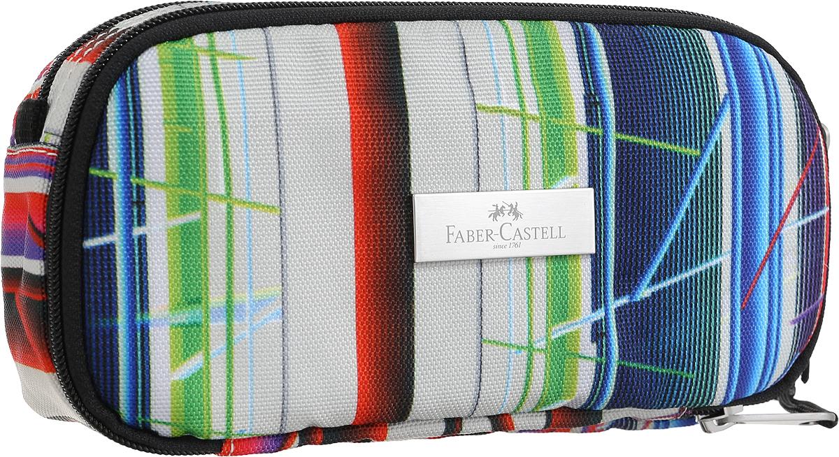 Faber-Castell Пенал цвет мультиколор 19180912-13/ГПСтильный пенал Faber-Castell выполнен из прочного материала и оформлен металлической вставкой с названием бренда. Пенал содержит два отделения, которые закрываются на застежки-молнии. В малом отделении расположены два кармана, один из которых закрывается на молнию, а другой на липучку. Пенал послужит отличным помощником во время занятий и позволит сохранить порядок на рабочем столе.