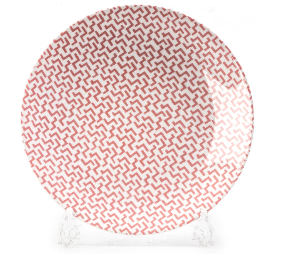 Тарелка La Rose des Sables Лабиринт, цвет: розовый, диаметр 27 см720127 2275