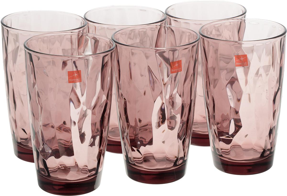 Набор стаканов Bormioli Rocco Даймонд, цвет: фиолетовый, 6 шт350270M02321990Набор Bormioli Rocco Даймонд выполнен из стекла, состоит из 6 высоких стаканов. Стаканы предназначены для холодных напитков. С внутренней стороны поверхность стаканов рельефная, что создает эффект игры и преломления. Стаканы Bormioli Rocco Даймонд станут идеальным украшением праздничного стола и отличным подарком к любому празднику. Объем стакана: 470 мл. Диаметр стакана по верхнему краю: 8,5 см. Высота стакана: 14,5 см.