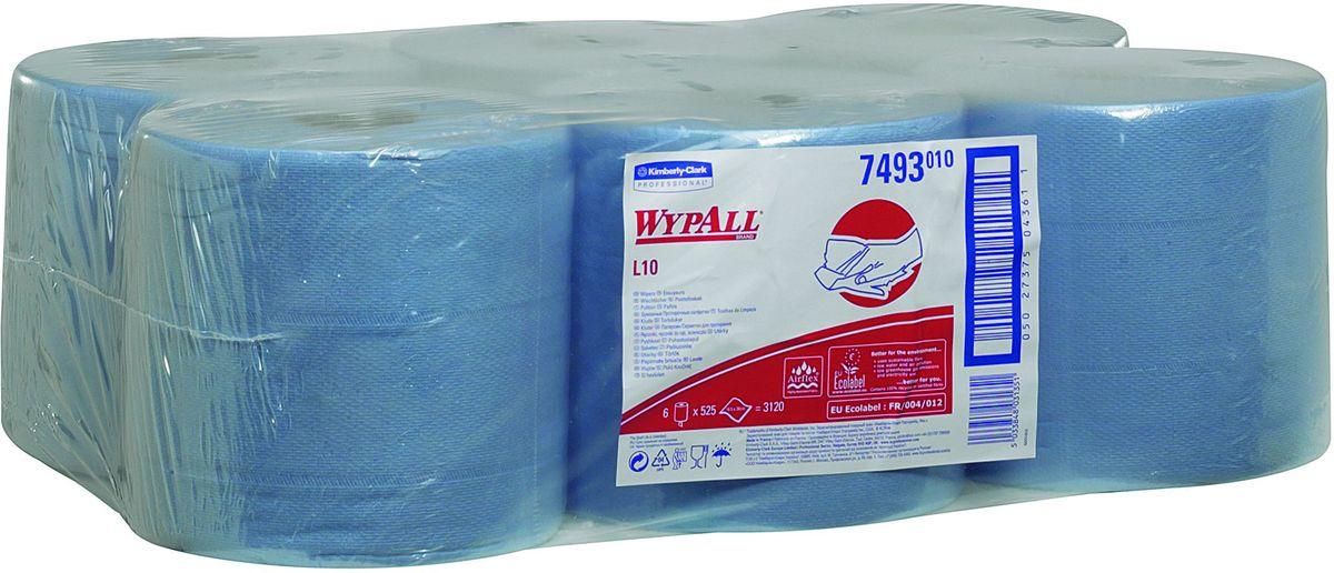 Полотенца бумажные Wypall L10 Extra, 6 рулонов. 74937493Бумажные полотенца Wypall L10 Extra отличаются особенной прочностью и быстротой впитывания жидкостей. Они идеально подойдут для универсальных задач: сбора грязи, работы с маслом, протирки и впитывания жидкостей в пищевой промышленности, а также в автомобильной индустрии и многих других областей. В набор входит: 6 рулонов. Количество листов в рулоне: 525 шт.