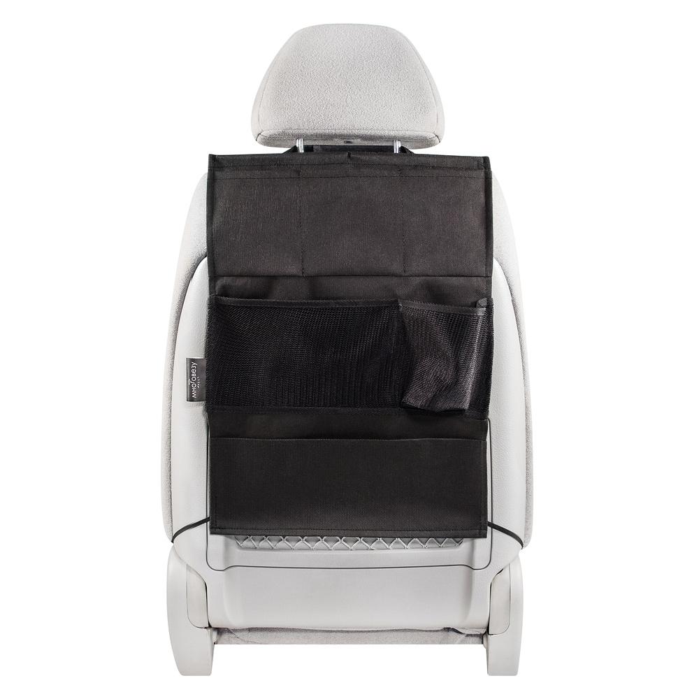Органайзер Много Везу, на спинку сиденья, 52 х 37 см. М 111М 111- Жесткий верхний каркас - Универсальный размер - 6 карманов Удобный и вместительный органайзер помогает компактно разместить множество различных вещей в салоне автомобиля. Жесткий верхний каркас позволяет всегда держать форму органайзера, а универсальный размер подойдет на сиденье любого автомобиля. Размеры: ширина —37 см, высота — 52 см Материал: спанбонд (плотность 100 гр/м2), прочная сетка Цвет: черный