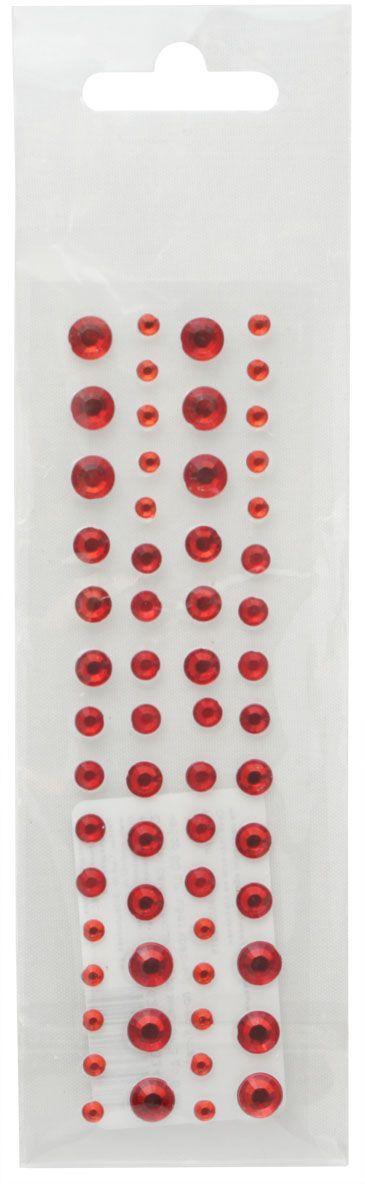 Стразы самоклеющиеся Кустарь, цвет: красный, 3-6мм, 60 штAM549019Стразы самоклеющиеся для скрапбукинга. Размер: от 3 до 6 мм. Количество в упаковке: 60 штук. Цвет: красный.