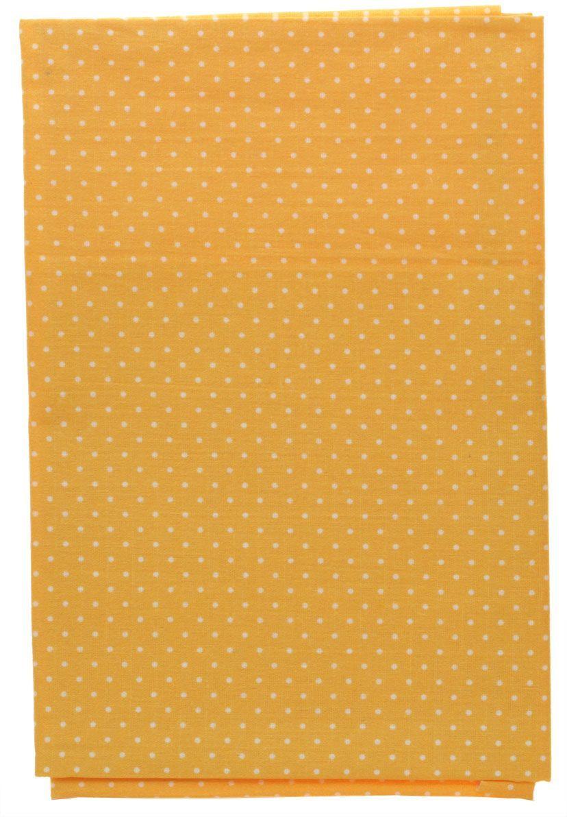 Ткань Кустарь Мелкий горошек, цвет: рыжий, 48х50 см. AM555028AM555028Высококачественная ткань из 100% хлопка, подходит для пошива покрывал, сумок, панно, одежды, кукол. Также подходит для рукоделия в стиле скрапбукинг и печворк. Плотность ткани: 120 г/м2 Размер: 48х50 см (+ 1-2 см)
