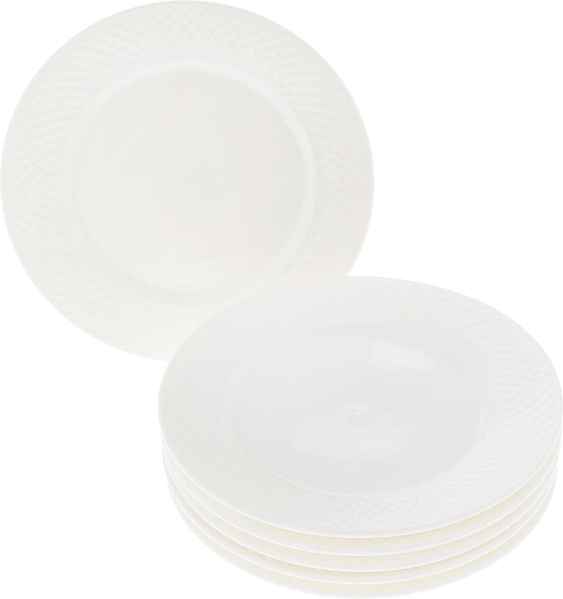 Набор тарелок Wilmax, диаметр 20 см, 6 предметовWL-880100-JV / 6CНабор Wilmax состоит из 6 десертных тарелок. Изделия выполнены из высококачественного фарфора и имеют классическую круглую форму. Такой набор прекрасно подойдет как для повседневного использования, так и для праздников. Набор тарелок Wilmax - это не только полезный подарок для родных и близких, а также великолепное дизайнерское решение для вашей кухни или столовой. Диаметр десертной тарелки: 20 см. Высота десертной тарелки: 2 см.